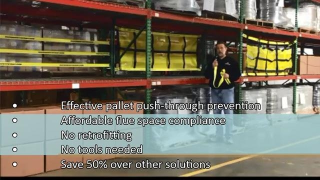 Pallet Rack Safety Products: Flue Space Compliance & Push-Through Prevention
