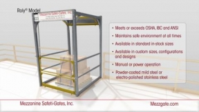 Roly Safety Gate from Mezzanine Safeti-Gates