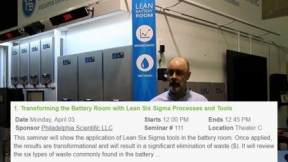 See how you can create the Lean Battery Room - Philadelphia Scientific (Booth 1868)