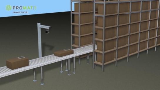 Sensor for palletizing, de-palletizing, fork-pocket detection and box dimensioning