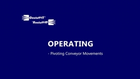 Destuff-IT Pivoting Conveyor - Range of Movement