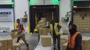 Box unloading