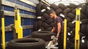 Loading and Unloading Tires