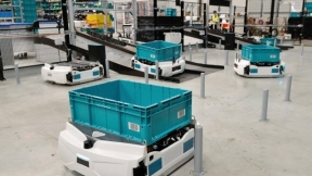 High-Density Autonomous Mobile Robot (AMR) Automated Storage & Retrieval System (ASRS)