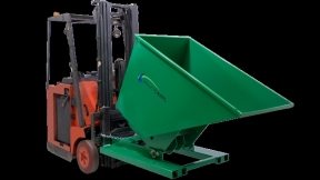 Valley Craft's NEW Hydraulic Self Dumping Hopper