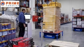Prime's Mobile Shelf Pallet Picking System