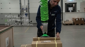 Piab's ergonomic piLIFT®SMART lifts the loads at Armatec